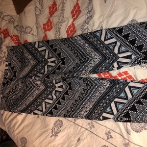 Other - Kathy blue and black aztec leggings
